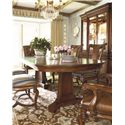 Thomasville® Deschanel Double Pedestal Table w/ 2 Extension Leaves - Shown in Room Setting