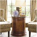 Thomasville® Deschanel Round Drum Table w/ Door - Shown in Room Setting