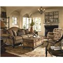 Thomasville® Ernest Hemingway 462 Deep Tufted Walden Chair with Nail Head Trim - Shown with an Eclectic Arrangement of Coordinating Collection Items
