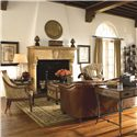 Thomasville® Ernest Hemingway 462 Exposed Wood Anson Chair - Shown with an Assortment of Eclectically Coordinating Items