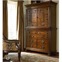 Thomasville® Ernest Hemingway  Manyara Media Chest w/ Hutch - Media Chest Shown in Room Setting