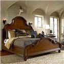Thomasville® Ernest Hemingway  Queen Barley Headboard and Footboard Bed - Barkley Panel Bed Shown in Room Setting