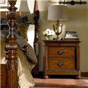 Thomasville® Ernest Hemingway  Nairobi Night Stand w/ 3 Drawers - Wood Top with Veneer Banding