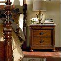 Thomasville® Ernest Hemingway  Nairobi Night Stand w/ 3 Drawers  - Nairobi Nightstand Shown with Thompson Falls Poster Bed