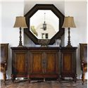 Thomasville® Ernest Hemingway  Serving Table w/ 4 Doors - Preserve Buffet Shown with Steppe Octagonal Mirror