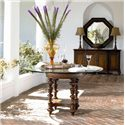 Thomasville® Ernest Hemingway  Serving Table w/ 4 Doors - Preserve Buffet Shown in Room Setting with Steppe Octagonal Mirror and Pepica Table