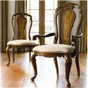 Thomasville® Ernest Hemingway  Granada Side Chair w/ Upholstered Seat