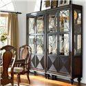 Thomasville® Ernest Hemingway  Masai Curio China Cabinet - Masai Curio Cabinet Shown in Room Setting