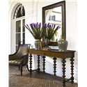 Thomasville® Ernest Hemingway  Basque Sofa Table w/ Drawer - Basque Console Table Shown with Matador Mirror