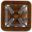Thomasville® Ernest Hemingway  Trophy Horn Table w/ Glass Insert Top - Square Table Top with Glass Insert