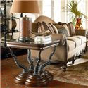Thomasville® Ernest Hemingway  Trophy Horn Table w/ Glass Insert Top - Trophy Horn Table Shown in Room Setting