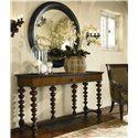 Thomasville® Ernest Hemingway  Romero Round Mirror - Romero Round Mirror Shown with Basque Console Table