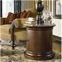 Thomasville® Ernest Hemingway  Tribal Drum Round Table - Tribal Drum Table Shown in Room Setting
