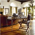 Thomasville® Ernest Hemingway  Safari Writing Desk w/ 3 Drawers - Safari Writing Desk Shown with Safari Desk Chair