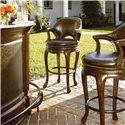 Thomasville® Ernest Hemingway  Kenyan Bar Stool w/ Leather Upholstery - Kenyan Bar Stool Shown with Bar