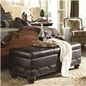 Thomasville® Ernest Hemingway 462 Sojourn Upholstered Storage Bench with Nail Head Trim
