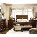 Thomasville® Fredericksburg Queen Panel Bed with Turned Columns - Shown with Two Bachelors Chests and Bench