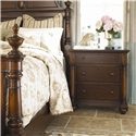 Thomasville® Fredericksburg Nightstand with Three Drawers - Arranged Next to a Mansion Bed