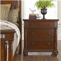 Thomasville® Fredericksburg Nightstand with Three Drawers - Arranged Alongside a Panel Bed