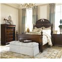 Thomasville® Fredericksburg Nightstand with Three Drawers - Shown with Mansion Bed and Drawer Chest
