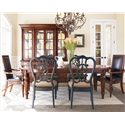 Thomasville® Fredericksburg Seven Piece Dining Set - Item Number: 43421-762+2x882+4x29-841