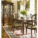 Thomasville® Fredericksburg Dining Side Chair with Upholstered Seat - Shown with Matching Arm Chairs, Oval Dining Table, and China Cabinet