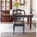 Thomasville® Fredericksburg Dining Side Chair with Upholstered Seat - Shown with a Whiskey Finished Dining Table, Creating an Eclectic, Contemporary Note