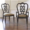Thomasville® Fredericksburg Dining Arm Chair with Upholstered Seat - Shown with Matching Side Chair