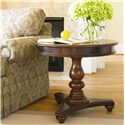 Thomasville® Fredericksburg Round Single Pedestal Lamp Table