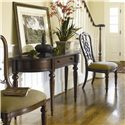Thomasville® Fredericksburg Demilune Sofa Table with One Drawer - Shown with Side Chairs
