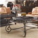 Thomasville® Grandview Rectangular Cocktail Table - Shown in room with end table