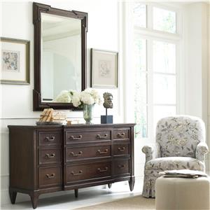 Thomasville® Harlowe & Finch Lacordia Dresser & Granada Mirror Set