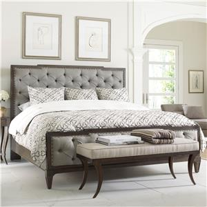 Thomasville® Harlowe & Finch Mirabeau Queen Sized Bed w/ Uph Footboard