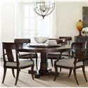 Thomasville® Harlowe & Finch 5 Pc Dining Set - Item Number: 83421-730+945+4X822
