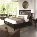 Thomasville® Lantau California King Panel Wood Bed  - Shown with Nightstand