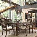 Thomasville® Lantau 7 Piece Dining Set - Item Number: 82621-752+2x882+4x881