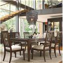 Thomasville® Lantau Rectangular Dinner Table - Shown with Table and Arm Chairs
