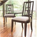 Thomasville® Lantau Dining Arm Chair w/ Upholstered Seat - Shown in Room Setting