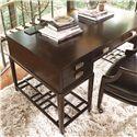 Thomasville® Lantau Writing Desk w/ 2 Lower Shelves - Shown in Room Setting