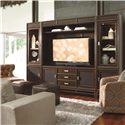 Thomasville® Lantau Left Pier Cabinet w/ Glass Door - Shown in Room Setting