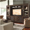 Thomasville® Lantau Right Pier Cabinet w/ Glass Door - Shown in Room Setting