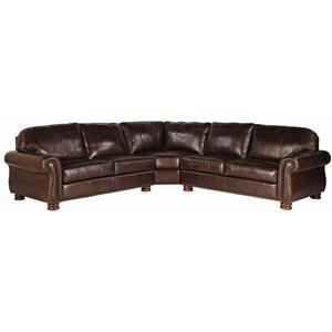 Thomasville® Leather Choices - Benjamin Leather Select Sectional in Double Fudge