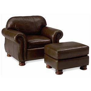 Thomasville® Leather Choices - Benjamin Leather Select Chair with Ottoman