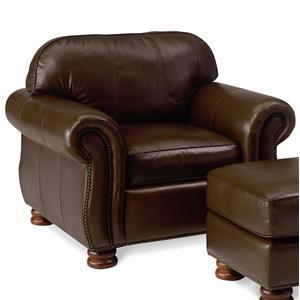 Thomasville® Leather Choices - Benjamin Leather Select Chair in Double Fudge