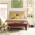 Thomasville® Manuscript Full Upholstered Panel Bed - Shown in Room Setting with Nightstand