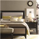Thomasville® Manuscript Queen Upholstered Headboard  - Shown in Room Setting with Nightstand and Bench