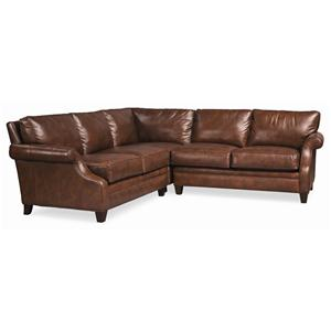 Thomasville® Mercer Series 3-Piece Leather Sectional