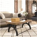 Thomasville® Reinventions Boulton and Watt Flip Top Coffee Table - Shown in Room Setting with Closed Top