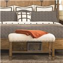 Thomasville® Seneca  Traditional Upholstered Bench with Nail Head Trim