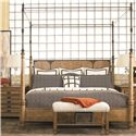 Thomasville® Seneca  Traditional Upholstered Bench with Nail Head Trim - Shown with Coordinating Bed